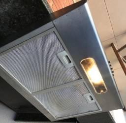 Depurador de Cozinha Suggar Slim aço inoxidável de parede 60cm x 8.5cm x 48cm  127V