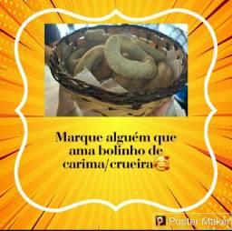 Café Delicias da terra com a especialidade bolinho de carima/crueira