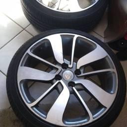 Rodas aro 17 pneus 195/40 novos