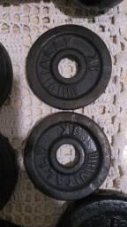 Duas anilhas de 1 kg cada