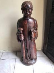 Imagem Sacra Padre Cícero Madeira Maciça grande em Fortaleza