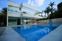 Casa Duplex, 4 suítes, Piscina, 800m², Hidro, CD com Acesso ao Rio e Praia