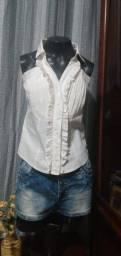 Título do anúncio: Blusa sem Manga Branca - 40