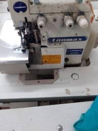 Máquina de costura overloque eletrônico e interloque industrial
