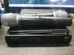 Microfone duplo karsect