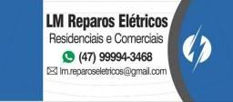 Serviços de reparos elétricos.