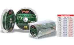 Linha Max Force Pe 4fios verde multifilamento carretel com 100mts (Bal.Camboriú)