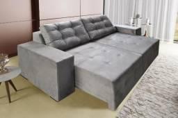 Sofá Retrátil e reclinável com mola