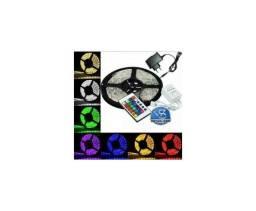 Fita Led 5m Rgb 16 Cores 5050 Pro D'agua + Fonte + Controle