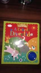Livro infantil musical (som do animal)