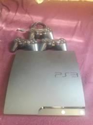 PS3 + 3 Controles e 9 Jogos. leia