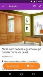 Guarda roupa mesa com cadeiras portas sofra cama com gavetas beliche mesa