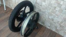 Jogo de rodas de liga dafra speed 150 estão boas sem amassados Roda Dianteira Dafra Spee