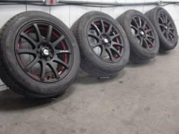 Roda 15 gsw com pneus em otimo estado