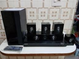 Home Theater da Samsung 330W(RMS) com manual e controle no plástico