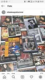 """Dvd""""s e Livros de Bateria"""