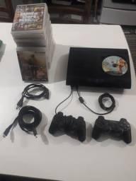 PS3 + 24 jogos + 2 controles