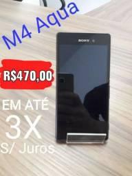 Sony Xperia M4 Aqua. Passo no cartão