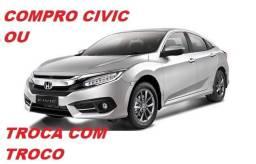 Honda Civic Pago à Vista ou Troca com Troco!