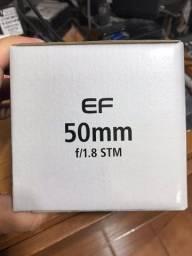 Lente Canon EF-50 STM R$650(Nova)