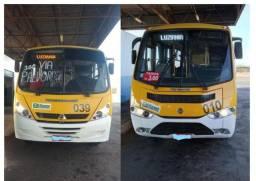 Imperdível -Dois micro-ônibus trabalhando e faturando - Ótimo negócio - VW 950 e MWM