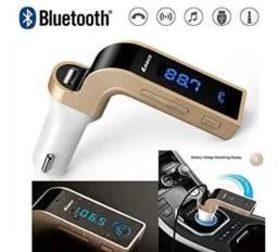 Transmissor Bluetooth Fm Veicular (Entrega Grátis)