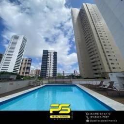 Apartamento com 4 dormitórios para alugar, 164 m² por R$ 3.700/mês - Manaíra - João Pessoa
