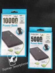 Pronta Entrega Original Bateria Externa Power Bank Pineng Slim/ 10000mah/ Novo