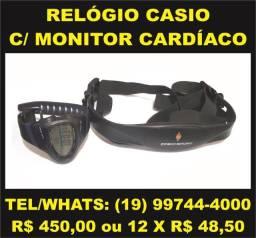 Relógio Digital Casio Original Com Monitoramento Cardíaco e Cinta Peitoral CHR-100