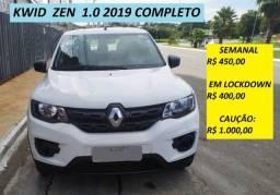 Aluguel/Locação de carro: Kwid Zen 1.0 2019 Completo - UBER/99