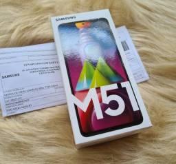 Samsung M51 nota fiscal, lacrado, garantia 128gb em até 12x sem juros