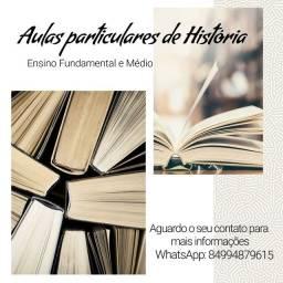 Aulas particulares de História