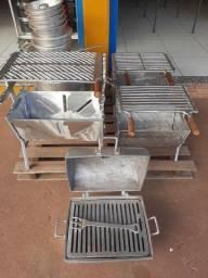 Churrasqueira em aluminio batido