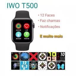 Super promoção  smartwatch T500 novo preto 12 faces
