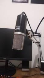 Fone + Microfone + Pedestal + Pop filter