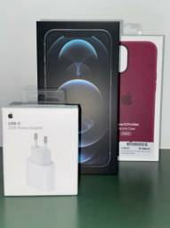 iPhone 12 Pro Max 128gb com película de vidro, capa original, carregador 20w,.