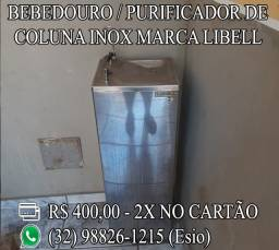Bebedouro / Purificador de coluna Inox Marca Libell
