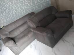 Sofá de 2 e 3 lugares na loja