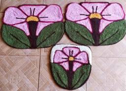 Jogo de banheiro flor