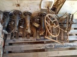 Cabeçote de máquina antiga