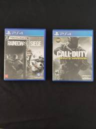 Vendo jogo PS4 Rainbow e COD