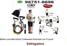 Kit Elástico Para Treino Exercícios Malhar Musculação em Casa