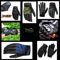 Luvas de Proteção Motociclista e Ciclista Modelos X11 e Probike Moda
