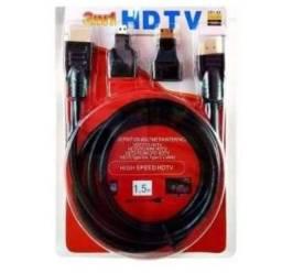 Cabo HDMI com 3 adaptador completo