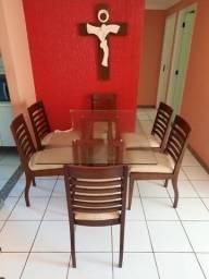 Mesa com 6 Cadeiras Giovanni Sonda