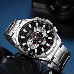 Relógio Curren Style Prata