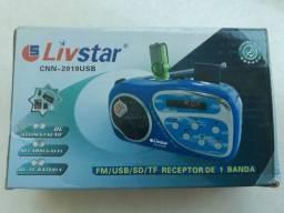 Rádio Portátil FM/USB