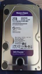 HD Purple Western Digital 2TB  - DVR - 5400 RPM 64MB Cache SATA 6.0Gb/s