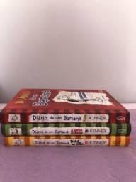 livros diario de um banana 1,3 e 4