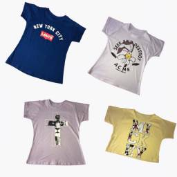 Kit de Blusinha Feminina T-shirt